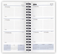 2016 wirebound weekly monthly planner refill