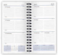 2018 wirebound weekly monthly planner refill
