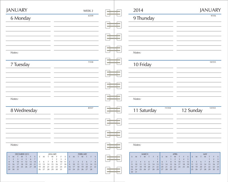 Calendar Refill Pages : Preference collection planner refills sun graphix