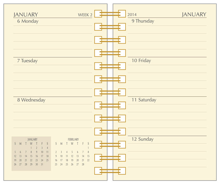 Preference Collection Planner Refills 2018, Sun Graphix Organizer ...