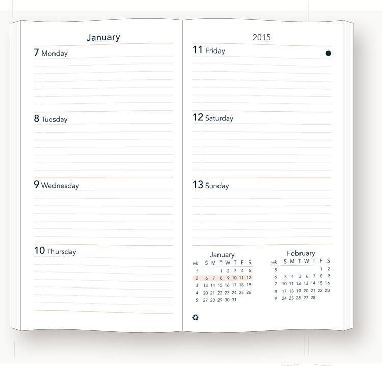 2019sun Graphix Preference Collection Sewn Planner Inserts
