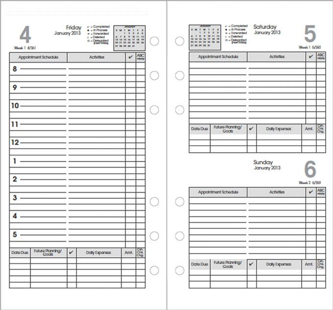 Calendar Refills  Calendar Refills For Planners And Agendas